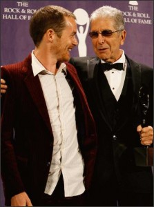 Damien Rice and Leoanrd Cohen at Rock and Roll Hall of Fame Induction